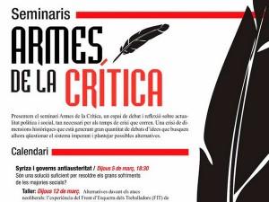 Seminari Armes de la Crítica / Seminario Armas de la Crítica