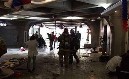 Frente al bombazo ocurrido en estación Escuela Militar
