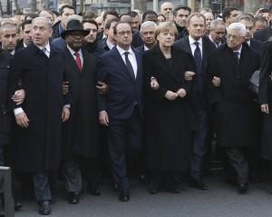 Merkel, Cameron, Rajoy y Renzi marchan el domingo en París