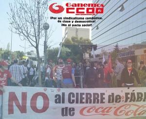 Solidaridad con los trabajadores de Coca Cola