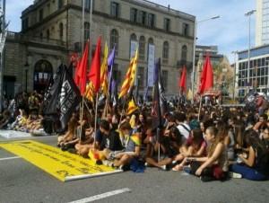 Huelgas estudiantiles contra la prohibición del 9N