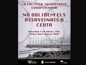 A un año del asesinato de quince inmigrantes en Ceuta, otro año de impunidad y racismo