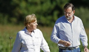 """Sintonía entre Merkel y Rajoy para las """"reformas duras y difíciles"""""""