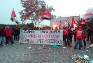 Comienza fuerte huelga indefinida de los jardineros de Madrid Rio