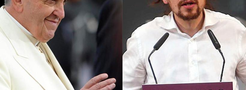 Pablo Iglesias y el papa Francisco: la Moncloa bien vale una misa
