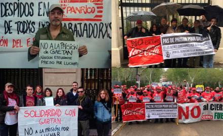 """El """"No a la prisión a Gaëtan"""" llega a los Consulados franceses de Madrid y Barcelona"""