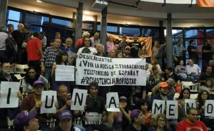 Solidaridad mutua entre trabajadores de Telefónica de Argentina y España