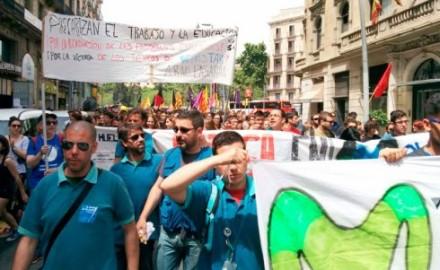Barcelona: estudiantes y trabajadores de Movistar en huelga