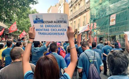 """Madrid: las mujeres de la """"Marea Azul"""" de Movistar"""