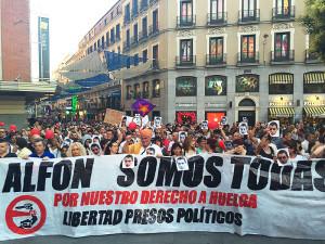 Miles toman las calles en el Estado español exigiendo la libertad de Alfon - Foto LID-Diego Lotito