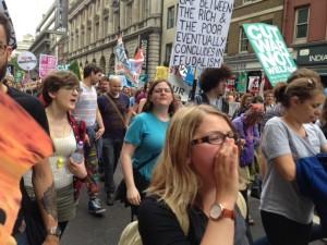 Cientos de miles en las calles de Londres contra la austeridad