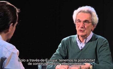 Toni Negri con Pablo Iglesias: Di' qualcosa di sinistra!!!!