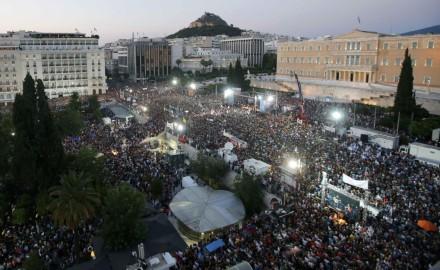 Gran polarización en Grecia antes del referéndum