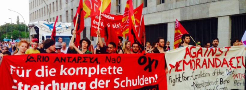 Se movilizan en Berlín para decir NO a la Troika