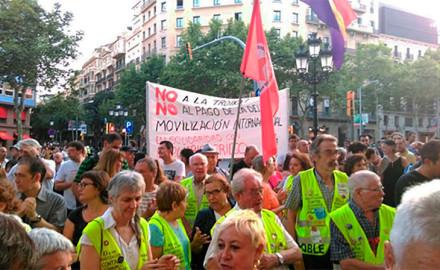 Acciones de solidaridad con Grecia en el Estado español