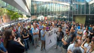 La jornada de huelga de los trabajadores INDRA se extiende a Barcelona
