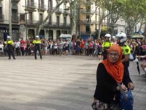 represión manteros en barcelona