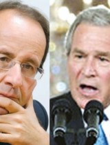 Hollande sigue los pasos de Bush