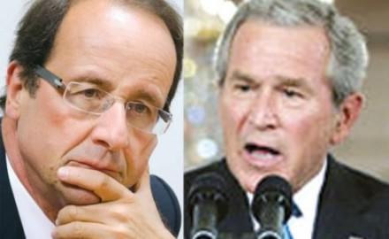 Hollande sigue los pasos de Bush