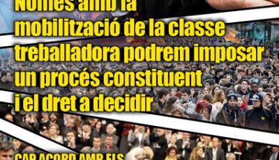 Por el derecho a la autodeterminación, con una movilización independiente de los capitalistas