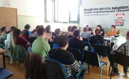 Encuentro estatal de CGT Telepizza lanza campaña contra la precariedad