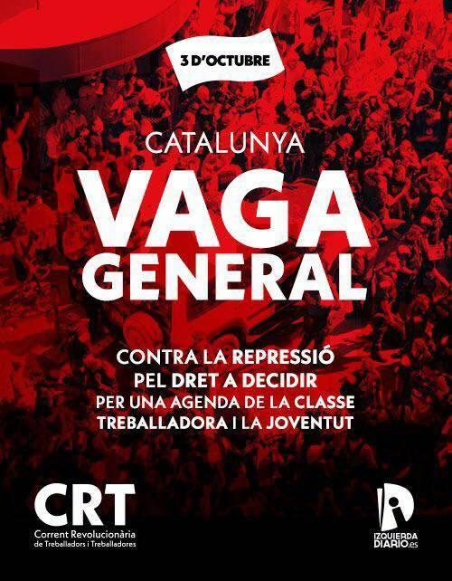 La izquierda sindical confirma la huelga para el 3 de octubre